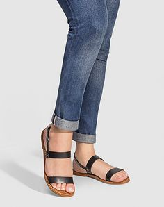 Vegan sandal PALMA in black