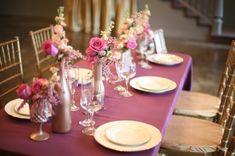 plum and bronze wedding