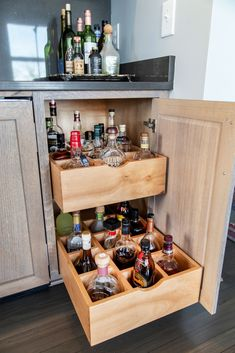 Looking to add a beverage center in your home? Kitchen Redo, New Kitchen, Kitchen Remodel, Kitchen Bar Design, Küchen Design, House Design, Home Bar Designs, Basement Bar Designs, Beverage Center