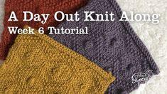 Week 6 | A Day Out Knit Along Blanket - No turn bobble knitting tutorial Stitch Patterns, Knitting Patterns, Knitted Blankets, Days Out, Crochet Hats, Knitting Hats, Knit Patterns, Knitting Stitch Patterns, Loom Knitting Patterns