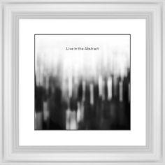 Black and White Bokeh Framed Print, White, Classic, Black, White, Single piece, 12 x 12 inches