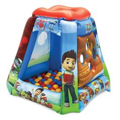 Ball Pits for Kids, Paw Patrol Ball Pit with 20 Balls, Toddler Jungle Gym Playhouse Inflatable for Boys Girls kids Infants & Baby [Balls Included] Paw Patrol Toys, Paw Patrol Party, Kids House Garden, Garden Houses, Paw Patrol Bedroom, 4 Year Old Boy, Christmas Toys, Baby Play, Little People