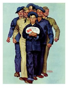 """Willie Gillis' Package from Home"", October 4,1941 Lámina giclée por Norman Rockwell en AllPosters.es"