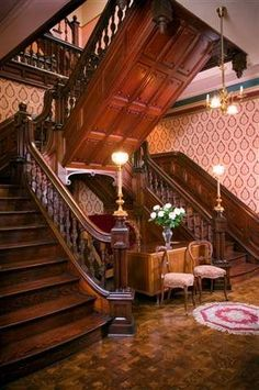 historic Victorian staircase: