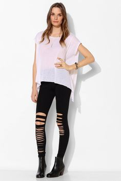 Sparkle & Fade Shredded Legging - Urban Outfitters