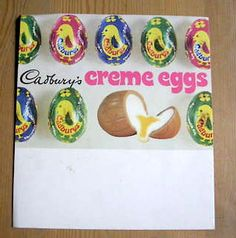 Creme Eggs when they were twice the size, so much cheaper and came in different colour wrappers !