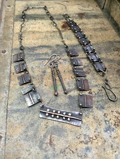 rustic oxidized jewelry by Studio Luna Verde