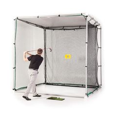 10x10x10 PVC Golf Cage Kit w Nylon Impact Net Target   eBay $199
