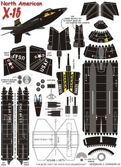 North American X-15   https://www.pinterest.com/Naih7/airplane-paper-models/