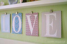 Nähkitz: DIY Buchstaben Deko