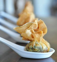 Recipe For Spinach Pouch  - An appetizer that is so easy to make. I used four main ingredients.