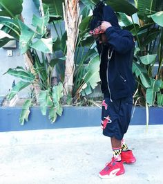 Wale in the Nike Air Max Penny 1