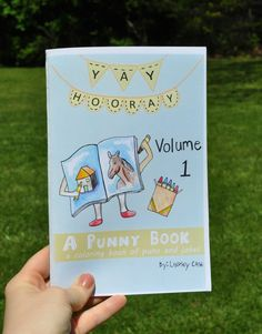A Punny Book volume 1 5 1/2 by 8 1/2 inches Coloring by yayhooray