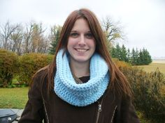 Thick Blue Crocheted Cowl by ACCrochet on Etsy, $21.00 Promotion Party, Animal Fur, Crochet Crafts, Cowl, Etsy Shop, Friends, Blue, Handmade, Hand Made