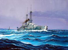 USS New York, un viejo conocido del hilo, pero del que nunca hemos hecho la correspondiente reseña... Líder de una clase de dos (el otro fue el USS Texas), comisionado en 1914, de 27.000 t, 20 nudos, armado con diez piezas de 356 mm en cinco torres dobles y 21 de 127 mm, con una cintura acorazada que alcanzaba los 305 mm. Durante la WWI fue trasladado a Scapa Flow, junto a otros tres (después cuatro) acorazados USA, formando la 9ª División, aunque encuadrada en la Grand Fleet como VI…