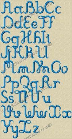 cursive alphabet embroidery machine applique design set appliques