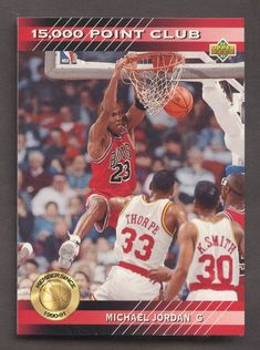27ae7704e7e 1992-93 Upper Deck 15000 Point Club Michael Jordan Chicago Bulls HOF