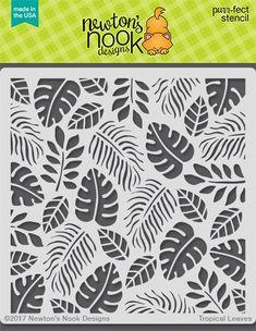 Newton's Nook - 6x6 Stencil - Tropical Leaves