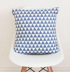 Geometric Blue Cushion Cover - cushions