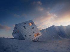 0-Stunning Cube Hut Project by lAtelier 8000