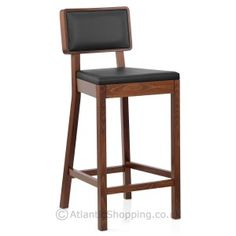 Regency Stool Walnut u0026 Black  sc 1 st  Pinterest & Normandy Walnut Kitchen Stool - £89 would need cushion pad ... islam-shia.org
