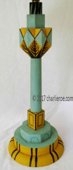 TDS - The Design Service - New Omega Workshops painted lamps / lamp bases / lamp stands