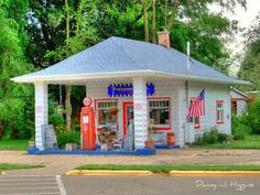 Old DX Gas Station-and they washed all the windows and checked the oil while the gas was pumping.  Perfect job for high school boys.