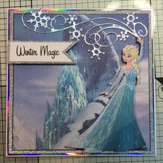 Disney Frozen- Elsa cut using colourful creations and back ground pad Disney Cards, Disney Pics, Disney Pictures, Frozen Cards, Diy And Crafts, Paper Crafts, Disney Frozen Elsa, Kids Birthday Cards, Create And Craft