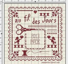 Cross Stitch Chart ... http://498brod.over-blog.com/