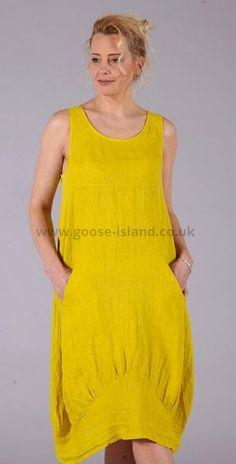 4d0735c137 Award Winning Women s Clothing Fashion Retailer. Gold Long Plain Linen Dress  ...