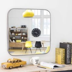 Spiegel aus Metall, H 65cm, PARKER