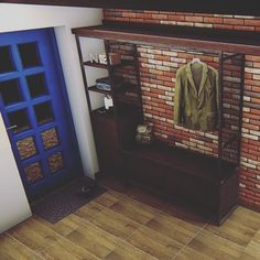 #гардероб #лофт  Лофт визуально выглядит так. Ничего лишнего.  Стена уже реализована из натурального клинкера.  #заказ #заказать #комплектауия #подключ #монтаж  #любогоразмера #дизайн  #loftdesign #nnov #новыйгод Entryway, Twitter, Photos, Furniture, Home Decor, Entrance, Pictures, Decoration Home, Room Decor