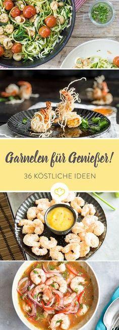Die berühmtesten Garnelen gibt es bei Forrest Gump. Die besten bei dir. Als Suppe, Salat, Auflauf oder Pfannengericht - 36 Rezepte mit Garnelen.