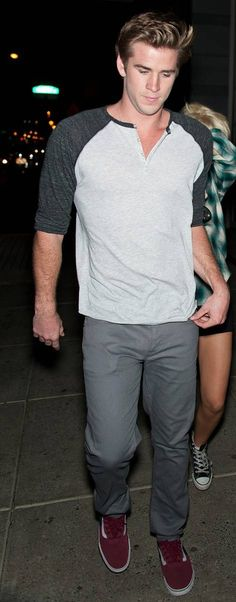 Liam Hemsworth in our 3/4-Sleeve Raglan Henley