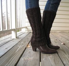 @Lynne  K. I need you to make me some of these! ;-) Knit boot cuff/sleeve