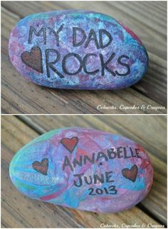 This is fun for the desk or garden, My Dad Rocks Paperweight craft. Father's Day Crafts for Kids: Preschool, Elementary and More on Frugal Coupon Living.