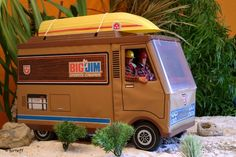 Big Jim's Camper. I still have this with all four of the dolls, Jim, Jack, Josh and Jeff. They used to beat up my Ken dolls.