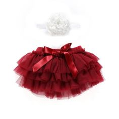Baby Girl Tutu Bloomers Set Ruffle Tulle Skirt with Headband (Red, Months) Baby Girls, Baby Girl Tutu, Tutus For Girls, Baby Girl Newborn, Tulle Balls, Tulle Ball Gown, Ball Gowns, Red Costume, Cute Costumes
