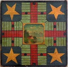 Antique Parcheesi Game Boards - The Vintage Village