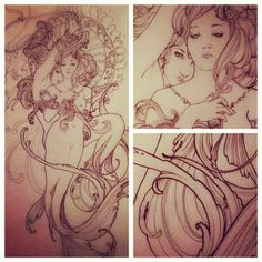 Fantastic mermaid tattoo design. #tattoo #tattoos #ink
