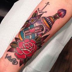 Message In A Bottle Tattoo by Matthew Houston