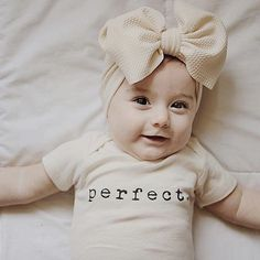 Perfect – Organic Onesie – Tenth & Pine – Best Unisex and Gender Neutral Kids Style Brands, Trends and Images Baby Outfits, Baby Shower Gifts, Baby Gifts, Baby Presents, Baby Boy Or Girl, Baby Girl Onesie, Newborn Onesies, Cute Baby Onesies, Baby Girl Shirts