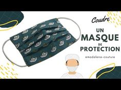 Sew a mask of protection _ tuto couture madalena éecouture sew a mask of protect Sewing Hacks, Sewing Tutorials, Sewing Projects, Sewing Patterns, Coin Couture, Couture Sewing, Diy Mask, Diy Face Mask, Youtube Hacks