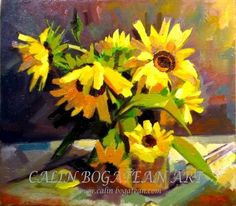 Sunflower oil on canvas Price Artwork, Original Artwork, Original Paintings, Floral Artwork, Floral Paintings, Photography Themes, Sunflower Art, Floral Theme, Paintings For Sale