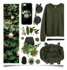 """Leafy Laugh"" by racanoki ❤ liked on Polyvore featuring River Island, Casetify, Valentino, Forever 21, Giorgio Armani, Chantecaille and RaCaNoKi"