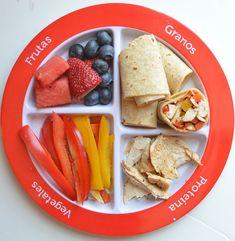 #myplate spanish fajita lunch