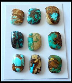 Turquoise Jewelry Native American 9 pcs Arizona Turquoise ct turqouise gemstone - Turquoise Parcels 17 x 13 x 53 carats Auction Minerals And Gemstones, Rocks And Minerals, Turquoise Stone, Turquoise Jewelry, Turquesa E Coral, Indian Arts And Crafts, Pyrus, Mineral Stone, Stones And Crystals