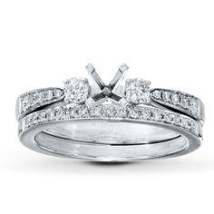 Jared - Diamond Bridal Setting 1/2 ct tw Round-cut Platinum