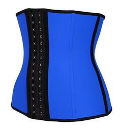 MyKORE Women Waist Trainer Cincher Breathable Shaper (XLarge, Blue). Waist Trainer Corset for weight loss. Women's latex waist trainer shapewear; Special design and smooths midsection while emphasizing natural curves. MyKORE latex waist cinchers has 3 hooks for your comfort. The waist trimmer will burn tummy fat to fit your curves while giving you a slimmer body shape and giving you a natural hourglass figure. IMPROVES POSTURE, our reinforced material ensures effortless perfect posture…
