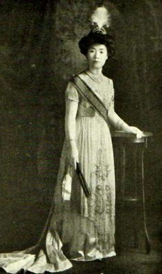 """The Imperial Princess Masako of Japan (1888-1940), The Lady of Tsune (1888-1908) in her own right. She was a daughter of The Meiji Emperor (Mutsuhito) and his concubine, Sono Sachiko. She was """"Imperial Princess Masako, Consort of Prince Tsunehisa"""" (1908-1919) as the wife of The Prince Tsunehisa The 1st Lord of Takeda. Her children were The Prince Tsuneyoshi The 2nd Lord of Takeda, and The Princess Ayako of Japan."""